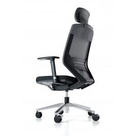 Vogue High Back Mesh Chair - Aluminium Base