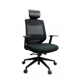 Vogue High Back Mesh Chair - Black Nylon Base