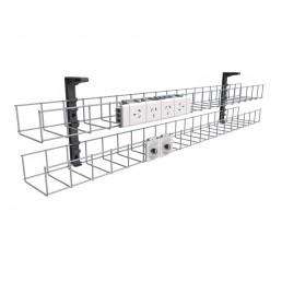 Dual Tier Cable Basket Kit - 2GPO + 2 DATA