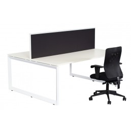 Double Sided With Screens Work Station With Loop Leg 1800x700
