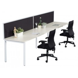 Single Sided With Screens Work Station With Profile Leg 1800x700