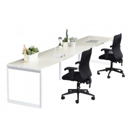 Single Sided No Screens Work Station With Loop Leg 1500x700