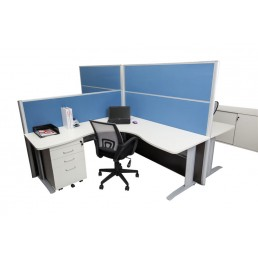 Rapid Desk Screen System - 1250 High