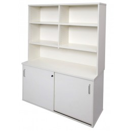 Rapid Vibe Office Sliding Door Storage & Hutch Shelving