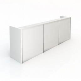 Kent Office Reception Counter Hi-Gloss White 3 Pack Panels 3390mm