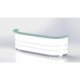 Polaris Reception Counter Curved Deluxe   W4320*D805*H1120 code: FAA