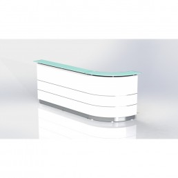Polaris Reception Counter Left Curved W2700*D805*H1120 code: FG