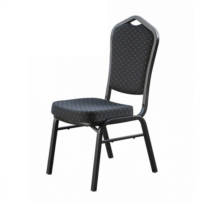Hospitality Stackable Fabric Function Chair - Black/Blue