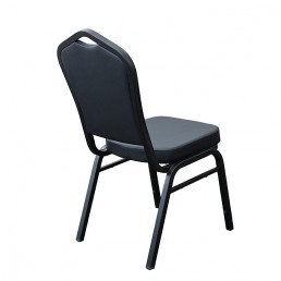 Hospitality Stackable Vinyl Function Chair - Black