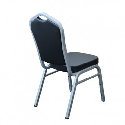 Hospitality Stackable Vinyl Function Chair - Silver