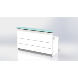Polaris Straight Reception Counter White 900mm Standard Height 1120mm