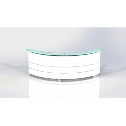 Polaris Curved Reception Counter White W1800mm Standard Height 1120mm CODE:FA