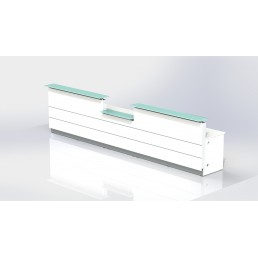 Polaris Straight Reception Counter White 1800mm Standard Height 1120mm