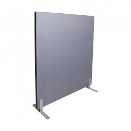 Acoustic Pinnable Partition Free Stand Screen - Grey