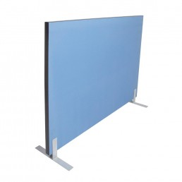 Acoustic Pinnable Partition Free Stand Screen - Blue