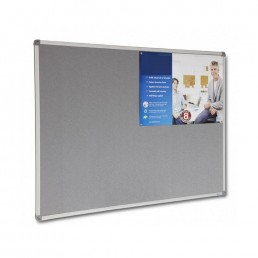 Corporate Felt Pinboard Aluminium Frame - Grey
