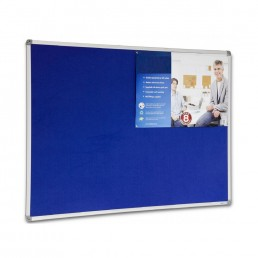 Corporate Felt Pinboard Aluminium Frame - Blue