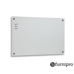 Magnetic White GlassBoards with Glass Pen Tray