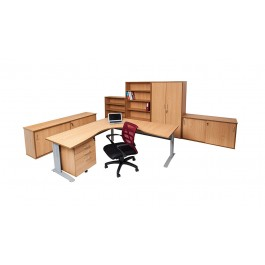 Office Furniture Package W1200 / W1800 Beech