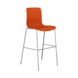 Acti Plastic Side Chairs - Bar Stool Base