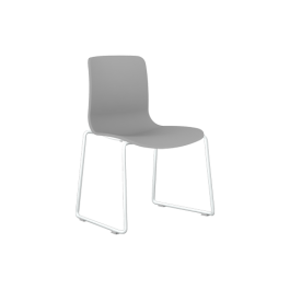 Acti Plastic Side Chairs - Sled Metal Base