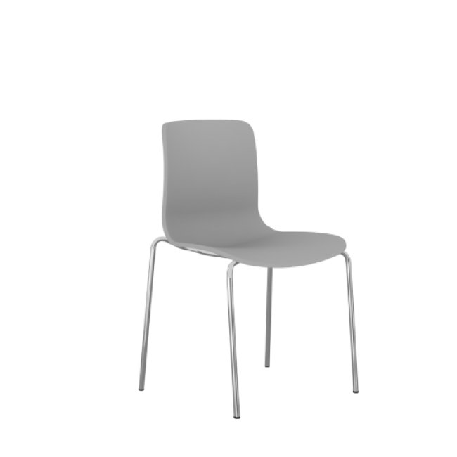 Acti Plastic Side Chairs - 4 Leg Metal Base