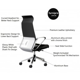 NEW Dustin Office Executive High Back Leather Chair