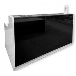 Roma Modern Office Reception Counter Black 1800mm