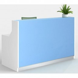 Roma Modern Office Reception Counter  Blue 1800mm