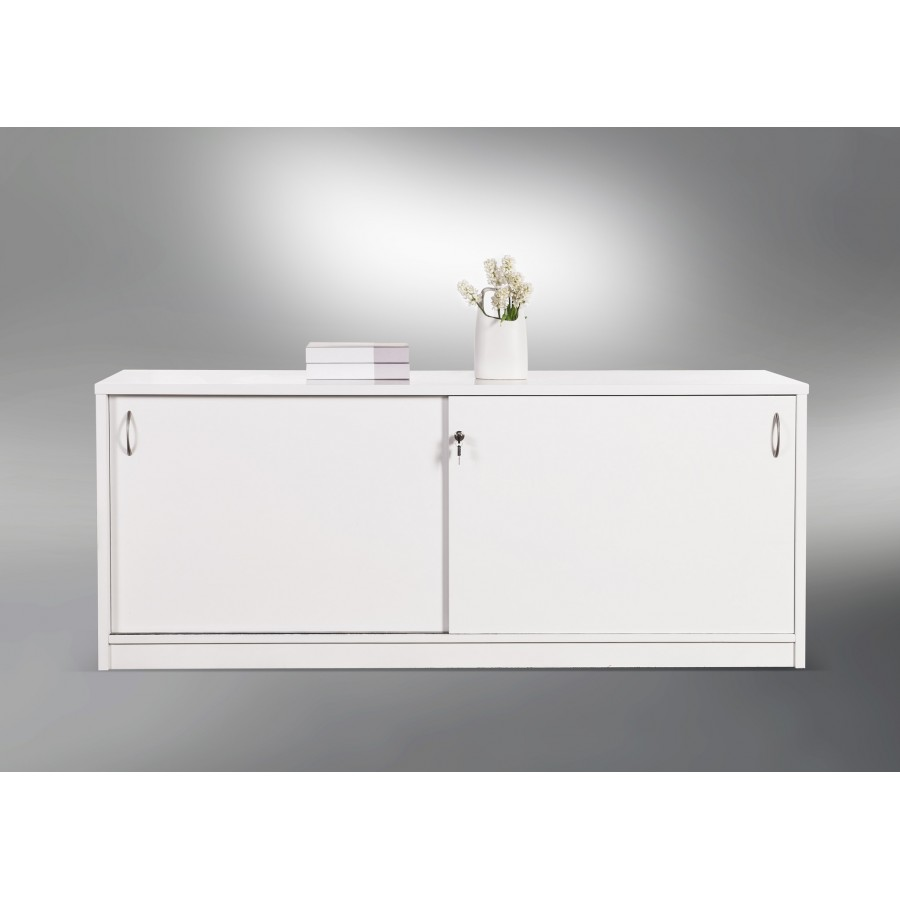 Groovy Sliding Door Buffet Lockable Office Storage Cabinet Gloss Best Image Libraries Weasiibadanjobscom