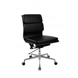Manta Executive Mid Back Chair Leather - No Arms