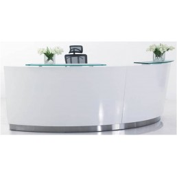 Evo Reception Counter White (2 x Standard Height Units)