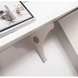 Hugo Office Reception Counter High Gloss White W2200mm