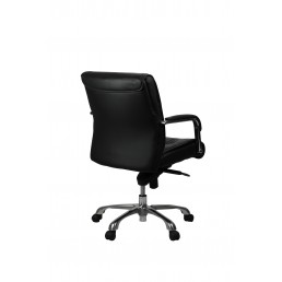 Perry Executive Medium Back Chair Black Leather