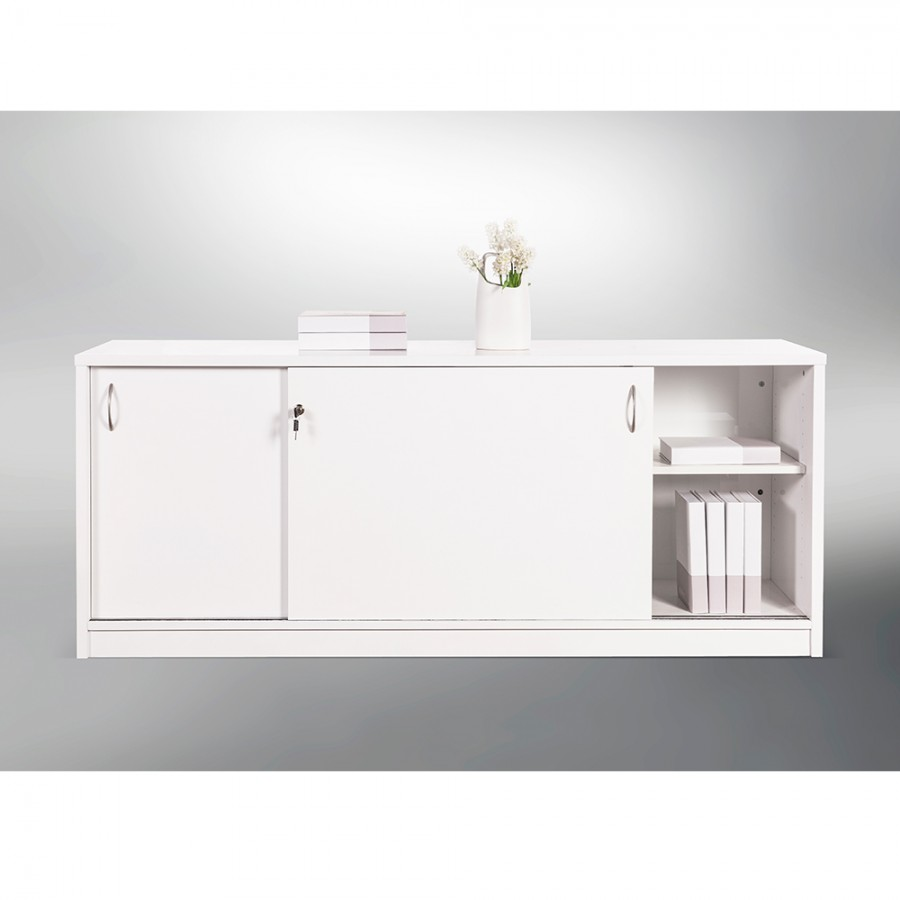 Terrific Sliding Door Buffet Lockable Office Storage Cabinet Gloss Best Image Libraries Weasiibadanjobscom