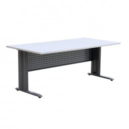 Metal Frame Desk with Modesty Panel