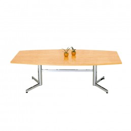 Office Boardroom Table on Chrome Legs