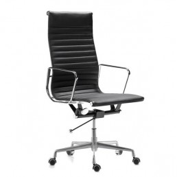 Eames Executive High Back Chair Black Leather