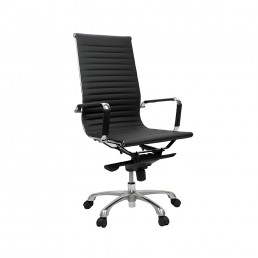Eames Executive High Back Chair Black PU