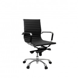 Eames Executive Medium Back Chair Black PU