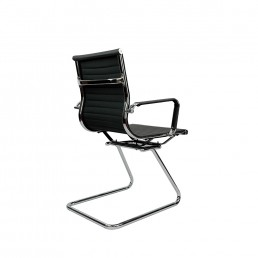 Eames Cantilever Medium Back Visitor Chair Black Muti Option