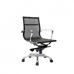 Eames Executive Mesh Medium Back Chair Black