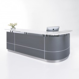 Executive Reception Counter - J Shape W2750mm