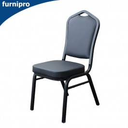 Vinyl Hospitality Stackable Function Chair - Black