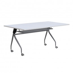 Mobile Folding Flip Top Table with Metal Frame