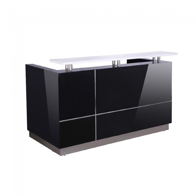 Hugo Office Reception Counter High Gloss Black W1800mm (Hurry while stock lasts)