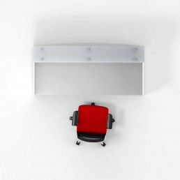 Classic Modern Office Reception Counter White & Charcoal 1800mm