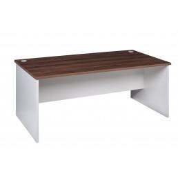 OM Premier Office Rectanglar Desk Marino Walnut & White W1500mm