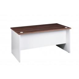 OM Premier Office Rectanglar Desk Marino Walnut & White W1800mm