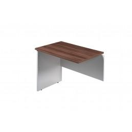 OM Premier Office Rectanglar Desk Return Marino Walnut & White